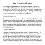 A Guide To Prof Resume PDF