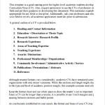 Academic CV Template Printable PDF