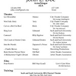 Acting CV Template PDF