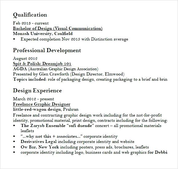 graphic designer cv example pdf samples examples format art design graphic resume pdf