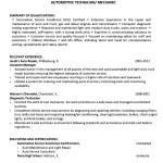 Automobile Resume Format