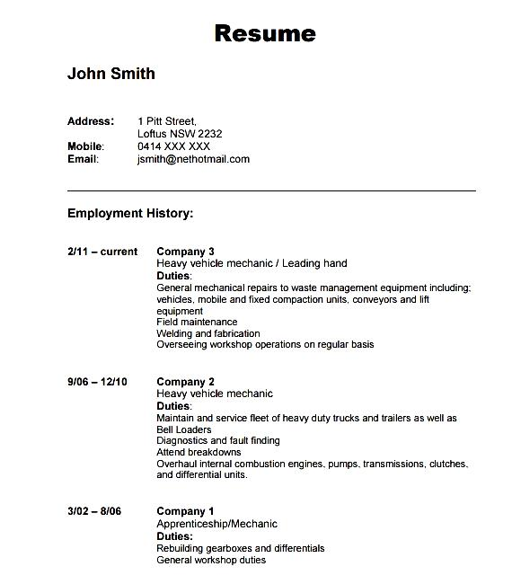 Automobile Resume Template Download Free Samples