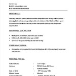 resume format for bpo experienced free samples examples