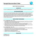 Bank Teller Resume Template