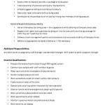 Barista Resume Job Description