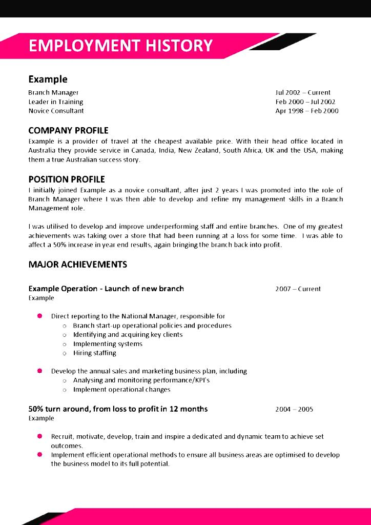 chef resume sample australia