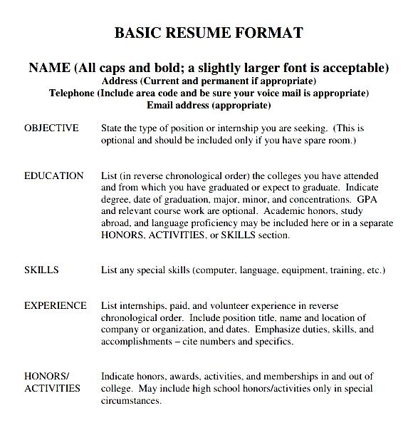 College Resume Format | Free Samples , Examples & Format Resume ...
