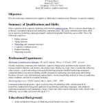 Communication Skills For Resume Sample