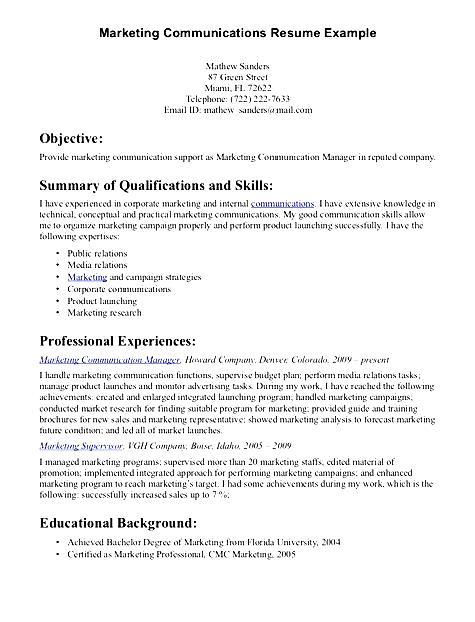 communication skills for resume sample  free samples