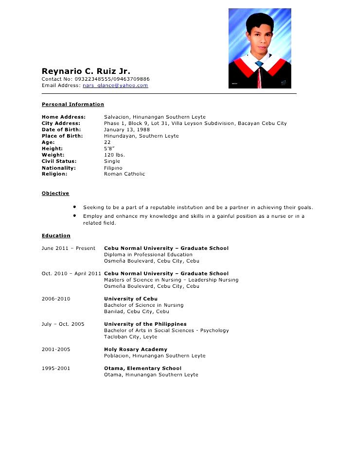 comprehensive resume sample