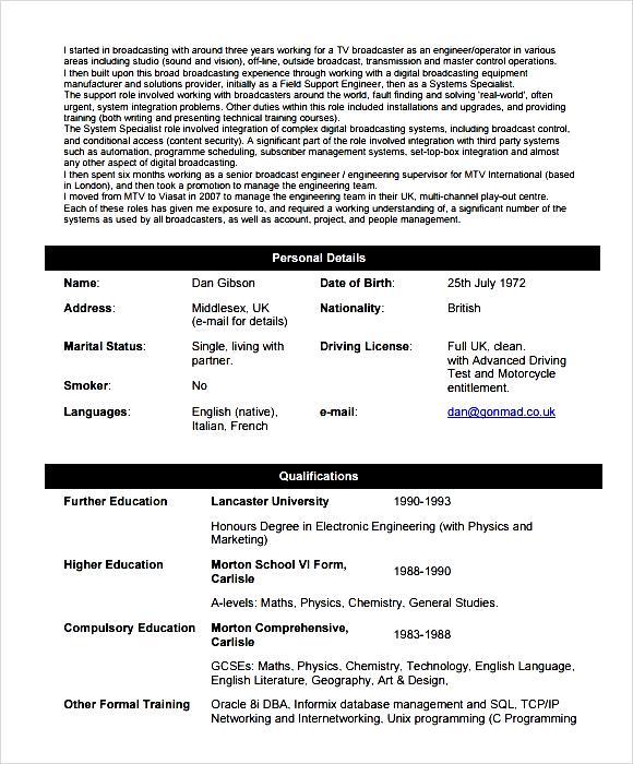 computer network engineer resume