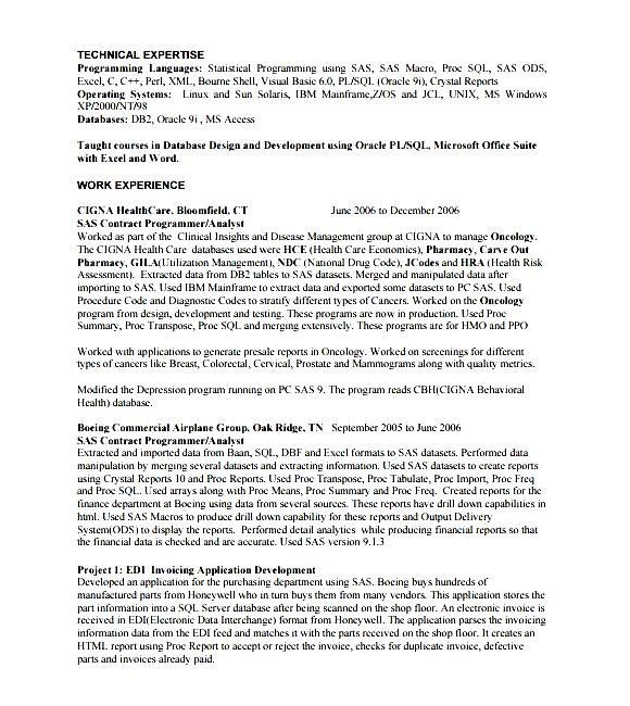Computer programmer resume example