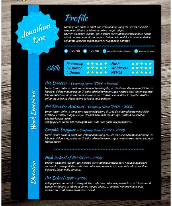 creative dark resume template