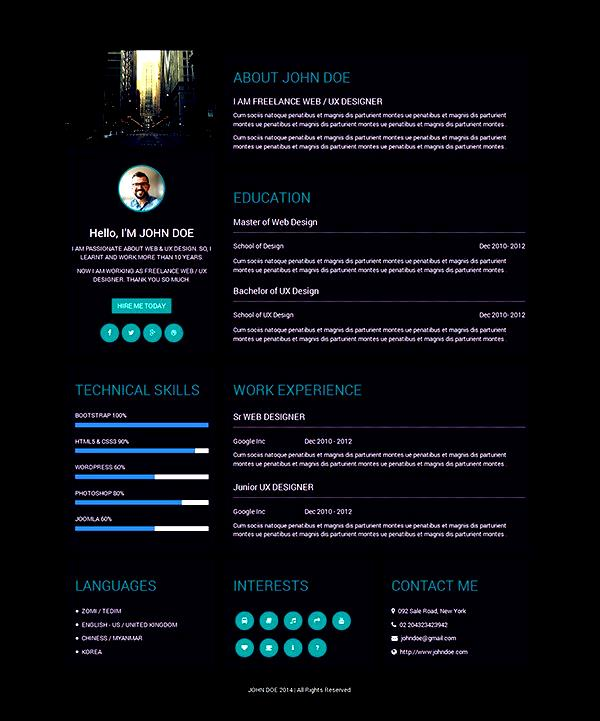 creative resume template for ux designer