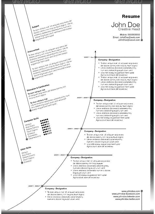 creative resume to highlight career path