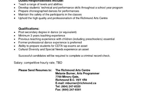 Education Objective Resume Sales Pinterest Education Objective Dance  Teacher Resume Sample  Dance Teacher Resume