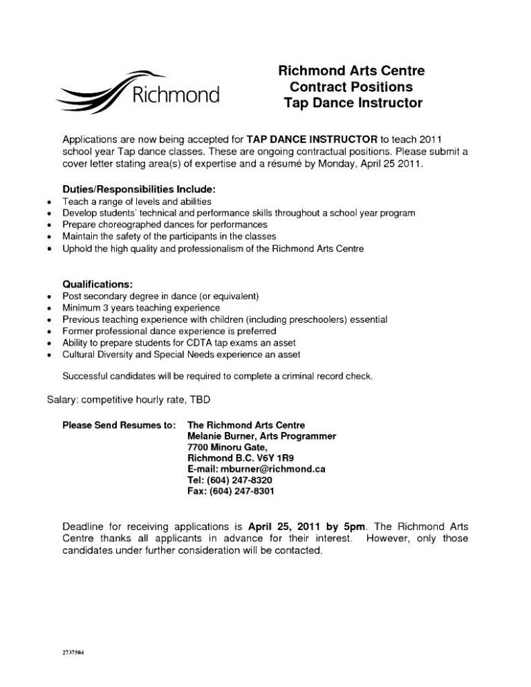 General employment resume