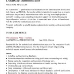 Database Administrator CV Template Download