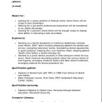 Dental Assistant Resume Skills Template