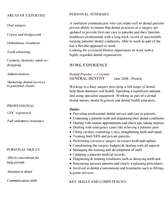 dentist resume template free samples examples format resume curruculum vitae free