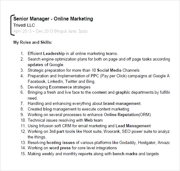 digital marketing expert resume pdf