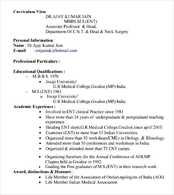 doctor resume format doctors resume format - Doctor Resume Format