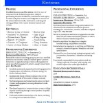 Electrician Resume Example Template
