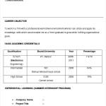 Electronics Engineer CV