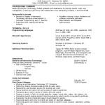 Entry Level Programmer Resume