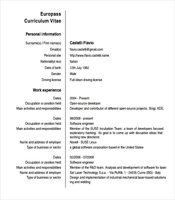 Currently Working Resume Format Pdf: Free Samples , Examples & Format Resume / Curruculum Vitae