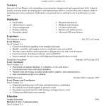 Event Planner Coordinator Resume