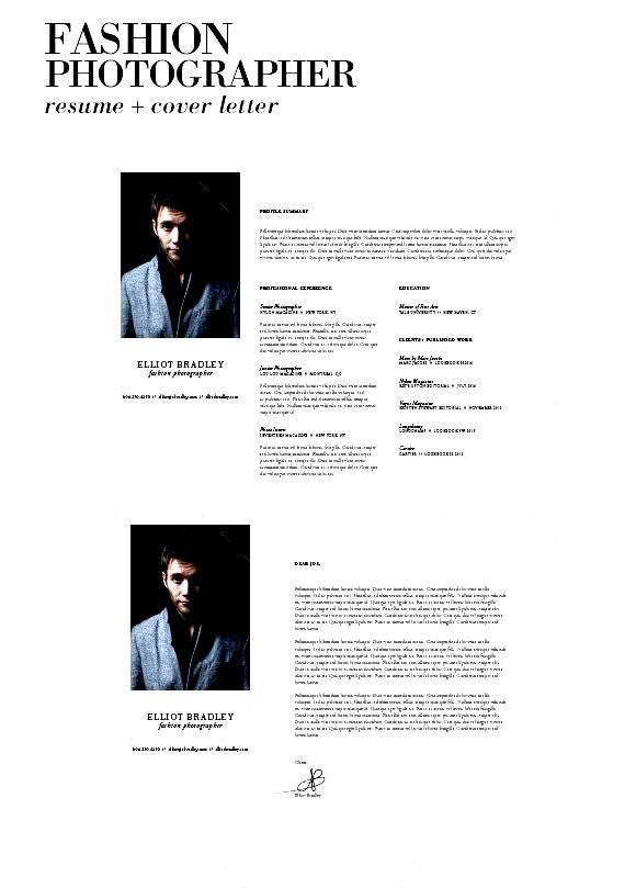 резюме для фотографа пример хадид