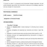 Financial Analyst ResumeTemplate Sample