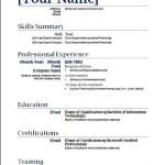 Free Basic Resume Template PDF