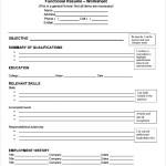 Free Functional CV Template Sample