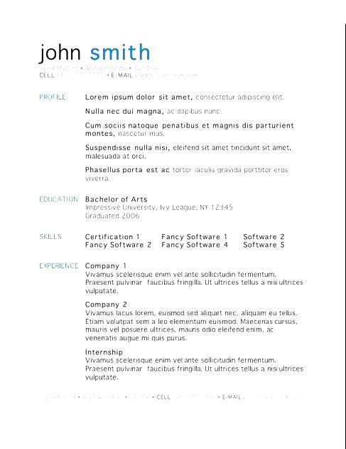 free mac resume templates