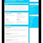 Free One Page PSD Resume Template