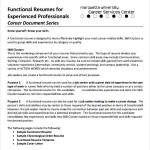 Functional CV Template Free