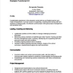 Functional CV Template PDF Printable