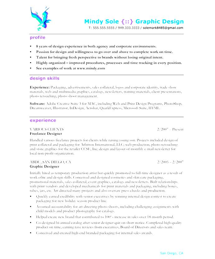 graphic design resume template  free samples  examples