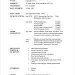 Hairdressing CV Template Example
