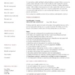 Healthcare Assistant Resume
