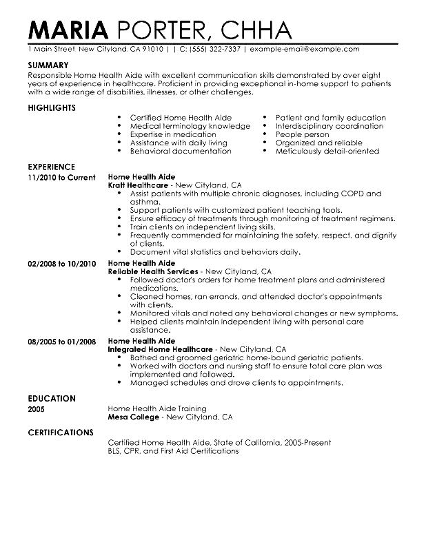 healthcare assistant resume sample  free samples
