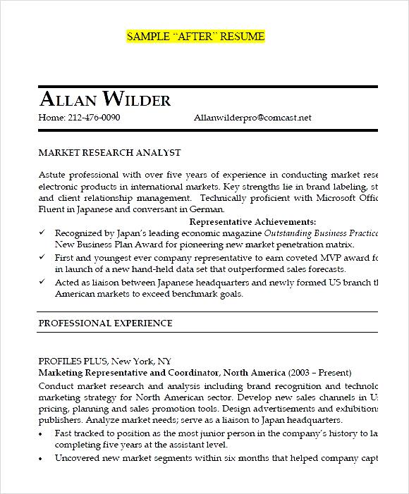junior market research analyst after resume pdf