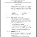 Kitchen Manager Resume Template