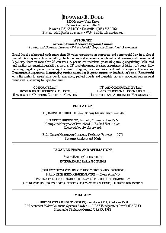 lawyer resume template  free samples  examples  format