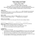 MBA Resume Template PDF Sample