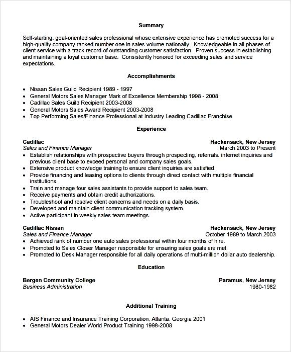 Manager Resume Example PDF