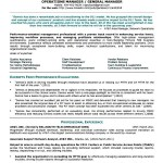 Manager Resume Format Free