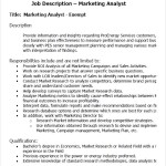 Marketing Analyst PDF Resume